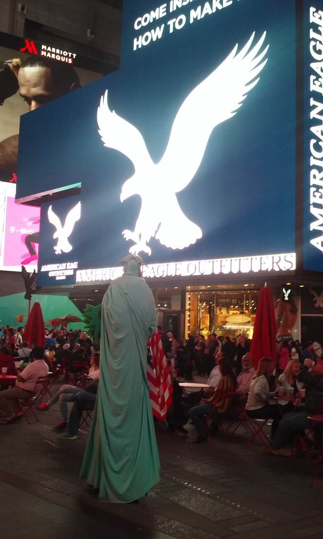 Time square Statue of Liberty
